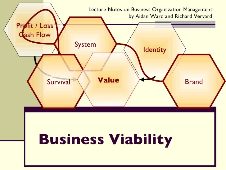 Business Viability Profit / Loss Cash Flow Identity System Survival Brand Value