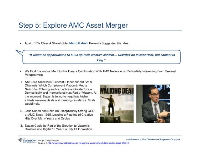 84Confidential | For Discussion Purposes Only | Step 5: Explore AMC Asset Merger 84  Again, 10% Class A Shareholder Mario...