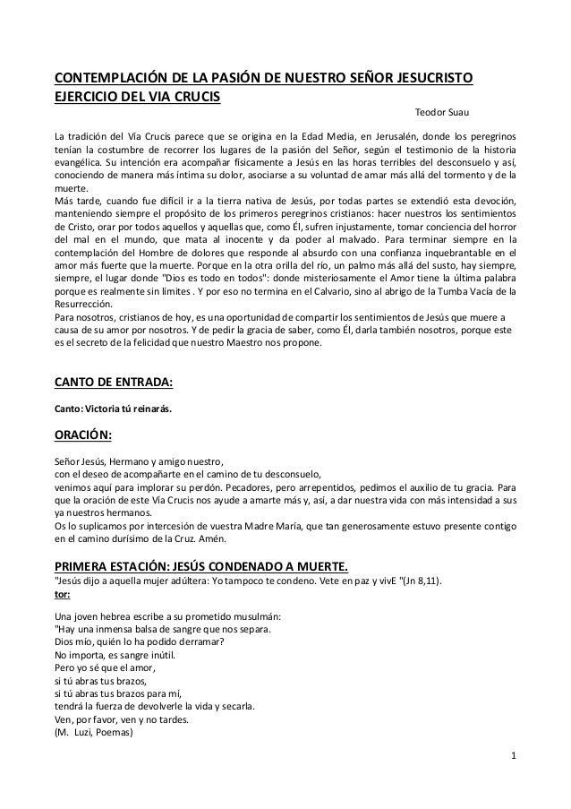 CONTEMPLACIÓN DE LA PASIÓN DE NUESTRO SEÑOR JESUCRISTOEJERCICIO DEL VIA CRUCIS                                            ...