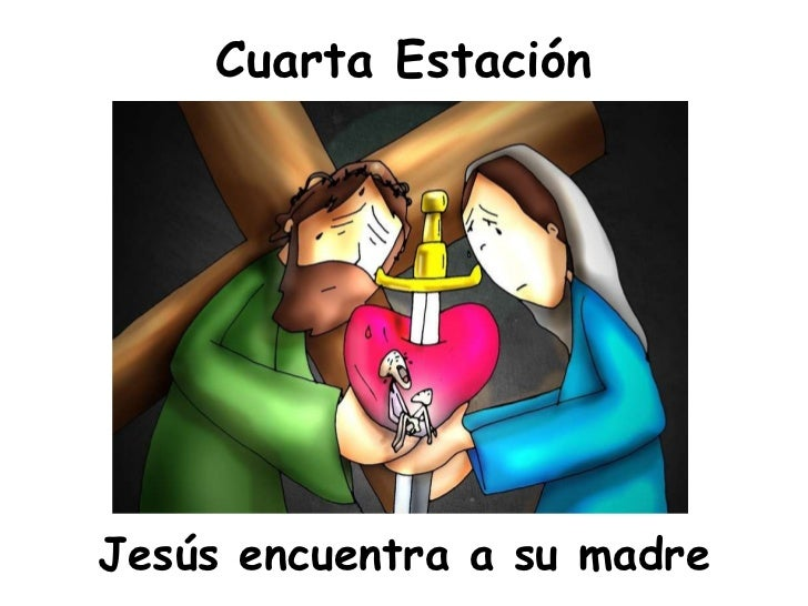 Cuarta Estación <ul><li>Jesús encuentra a su madre </li></ul>