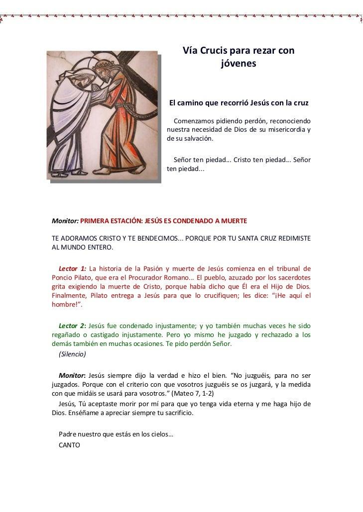 Vía Crucis para rezar con                                                   jóvenes                                      E...