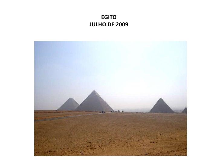 EGITO  JULHO DE 2009<br />