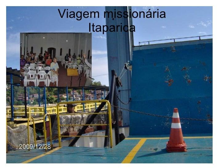Viagem missionária Itaparica