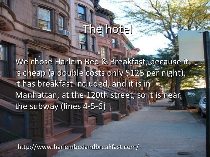 Cheap Bed And Breakfast In Manhattan New York