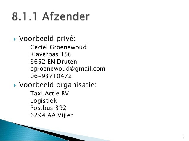 Via hb d6 h8 brieven en e mails