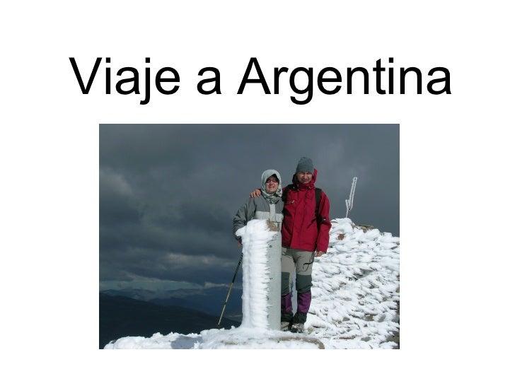 Viaje a Argentina