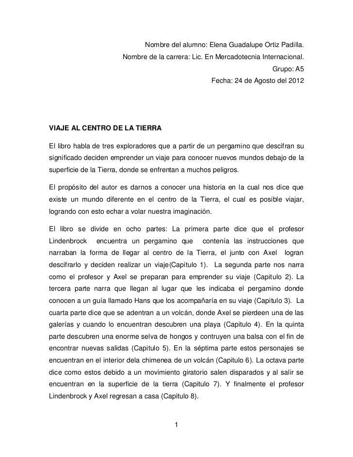 Nombre del alumno: Elena Guadalupe Ortiz Padilla.                        Nombre de la carrera: Lic. En Mercadotecnia Inter...