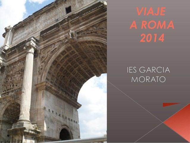 VIAJE A ROMA 2014