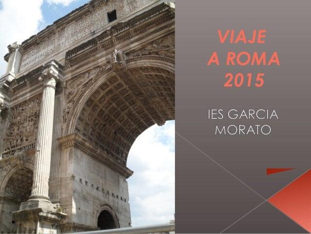 VIAJE A ROMA 2015