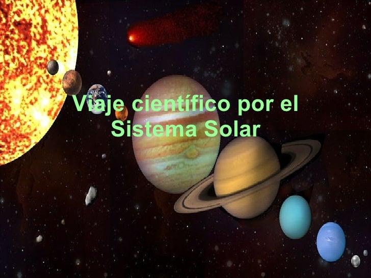 Viaje científico por el Sistema Solar