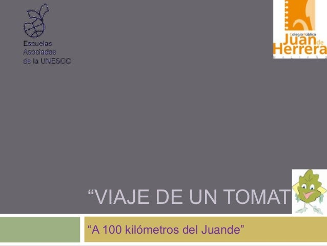 """VIAJE DE UN TOMATE""""A 100 kilómetros del Juande"""