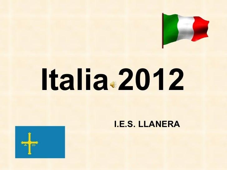 Italia 2012 I.E.S. LLANERA