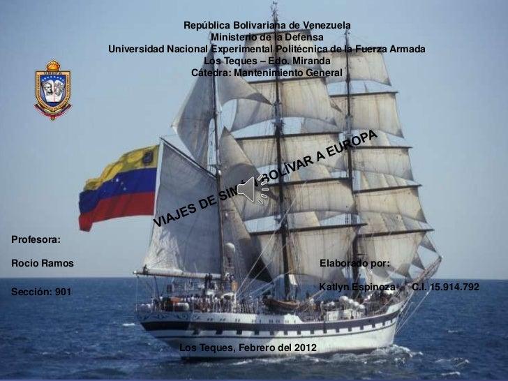 República Bolivariana de Venezuela                                    Ministerio de la Defensa               Universidad N...