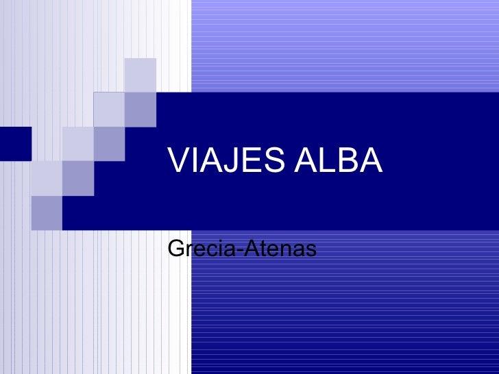 VIAJES ALBA Grecia-Atenas