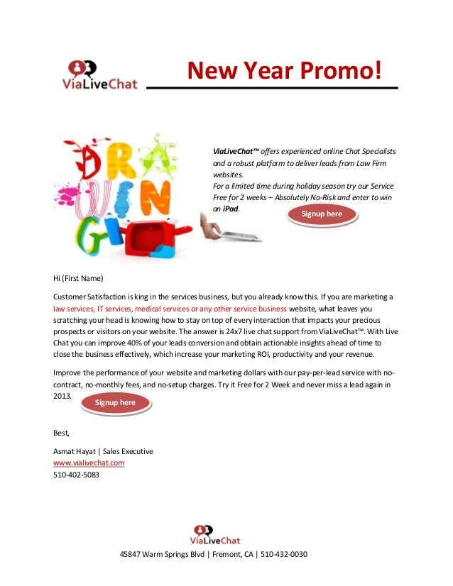 New Year Promo!                                                ViaLiveChat™ offers experienced online Chat Specialists    ...