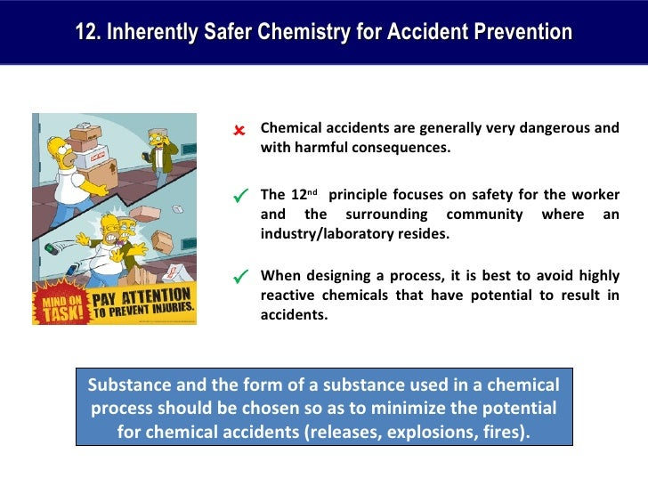 preventing chemical accidents Accident epidemiology and the us chemical industry: accident history and 20 section 112(r) also required epa to develop regulations to prevent the accidental release of substances.