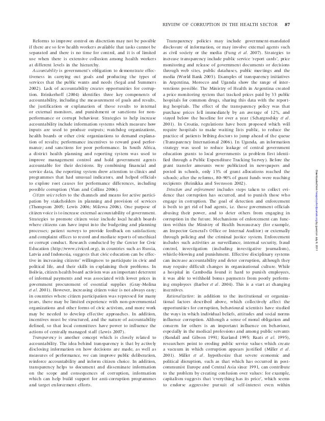 corruption medical field essay The truth about medical journals, and how drug companies exert heavy influence over published scientific articles doctors : the great direct-to-consumer prescription drug advertising con: how patients and doctors alike are easily influenced to demand dangerous drugs.