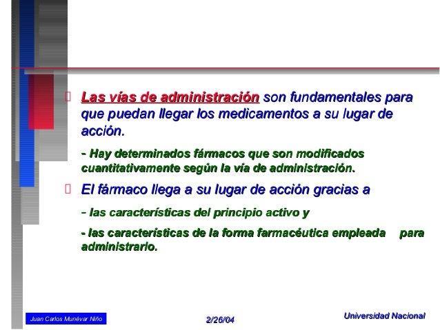 VÍAS DE ADMINISTRACIÓN DE MEDICAMENTOS Slide 3