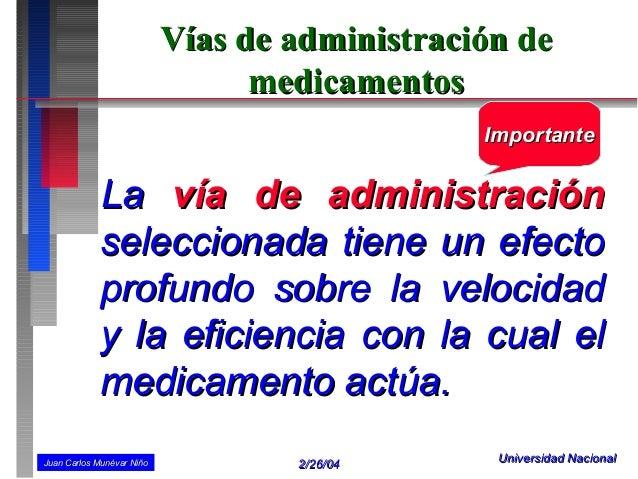 Vías de administración de                                 medicamentos                                               Impor...