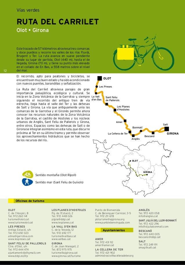 Vias verdes costa brava pirineos de girona turismo 2012 for Oficina de turismo girona