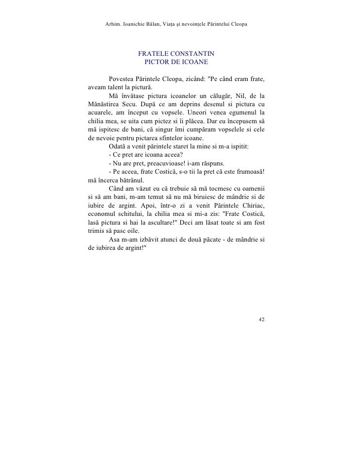 Arhim. Ioanichie Blan, Via]a [i nevoin]ele Printelui Cleopa                         FRATELE CONSTANTIN                    ...