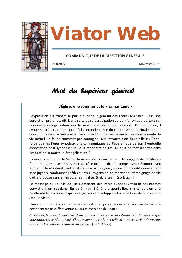 Viator Web                         COMMUNIQUÉ DE LA DIRECTION GÉNÉRALE               Numéro 53                            ...