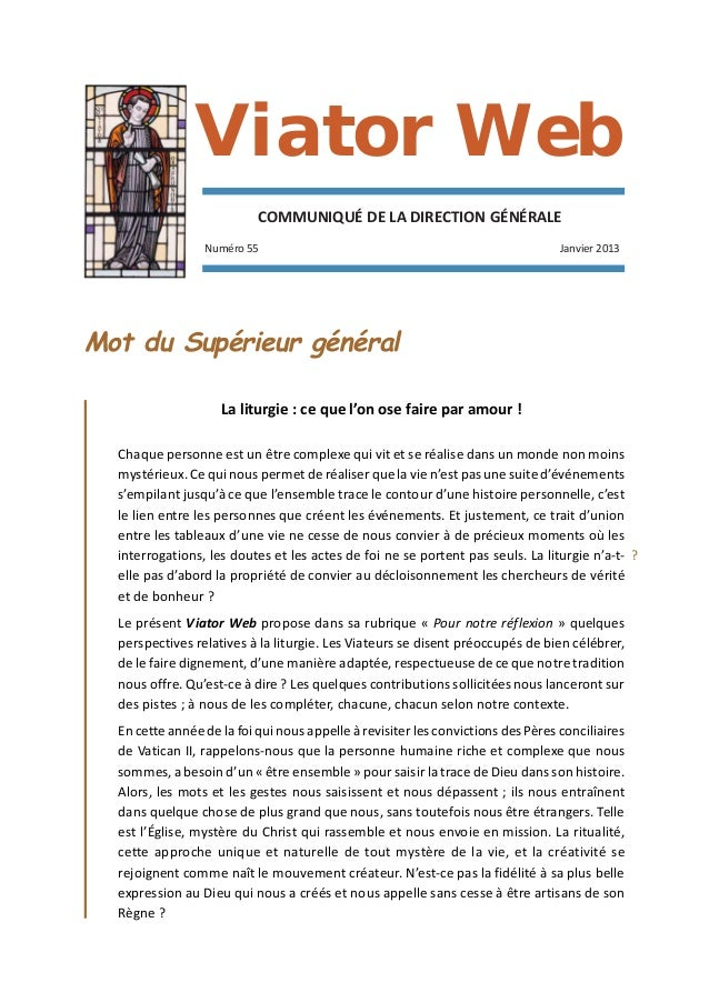 Viator Web                           COMMUNIQUÉ DE LA DIRECTION GÉNÉRALE                 Numéro 55                        ...