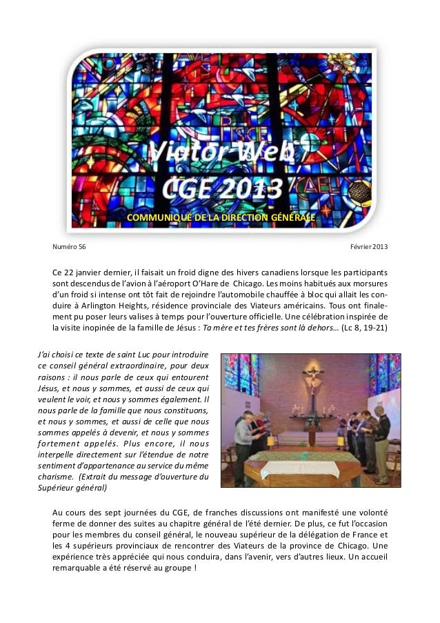 COMMUNIQUÉ DE LA DIRECTION GÉNÉRALE    Numéro 56                                                                          ...