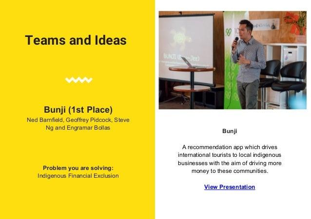 Teams and Ideas Hustle Ninja Victor S., Rachel Chan and Satish Irudaya Problem you are solving: Improving Financial Litera...