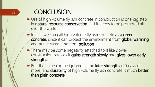 Fly Ash Concrete Ppt
