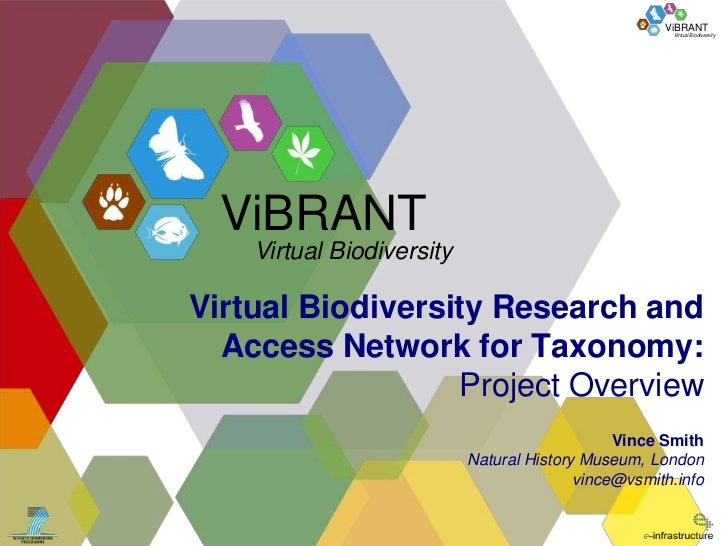 ViBRANT                                                      Virtual Biodiversity  ViBRANT    Virtual BiodiversityVirtual ...
