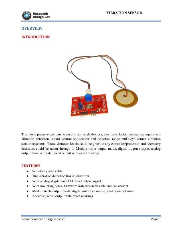 Digitla Vibration Sensor