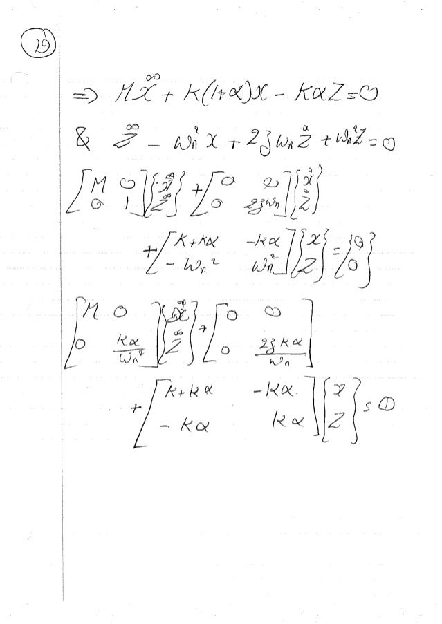 Vibration Damping: Lecture Notes - UMD Spring 2001