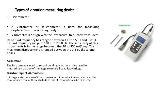 Frequency Measuring Tools : Vibration measuring instrument