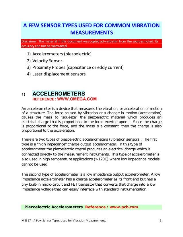Vibration sensors 2012