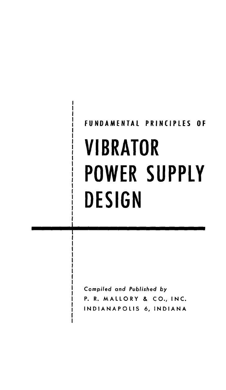 VIBRATOR POWER SUPPLY DESIGN