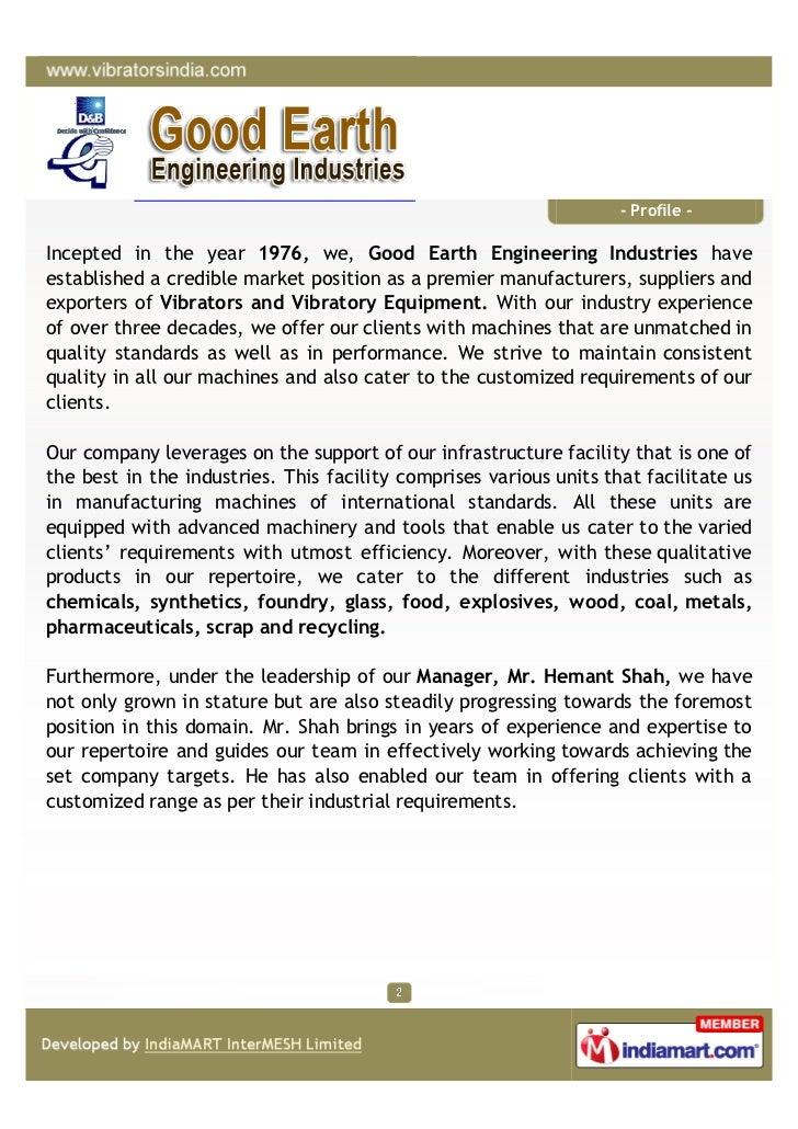 Good Earth Engineering Industries, Mumbai, Rotary Electric Vibrators - 웹