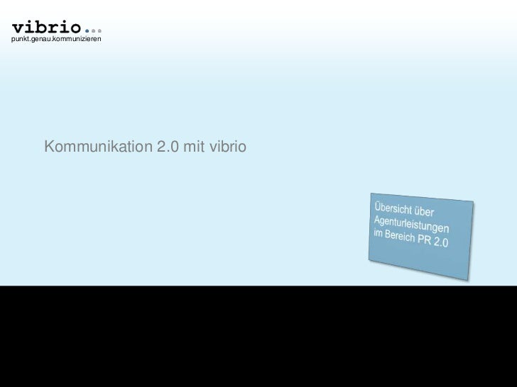 vibrio Präsentation Kommunikation 2.0