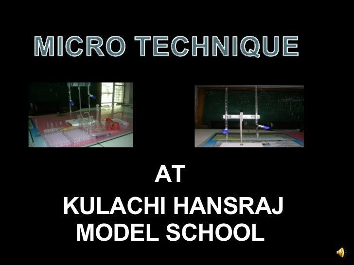 AT KULACHI HANSRAJ MODEL SCHOOL