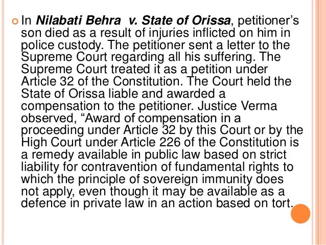 vicarious liability of the state Vicarious liability of the state according to article 300 of the constitution of india the union of india and the state government can sue or be sued in the like cases as the dominion of india and the corresponding indian states might have sued or been sued if the constitution had not been enacted.