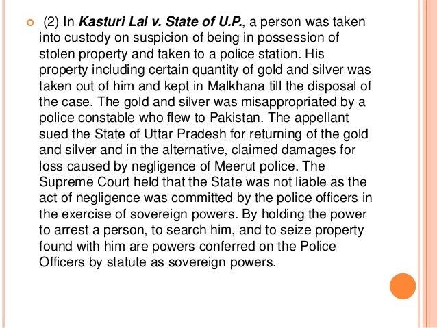 State of Rajasthan v. Vidhyawati AIR 1962 SC 933