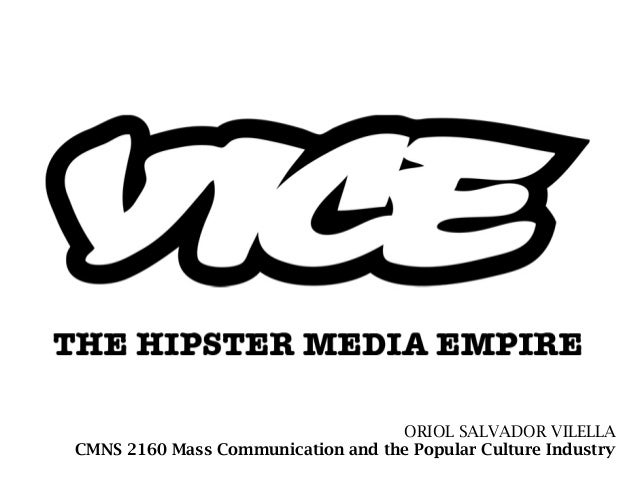 ORIOL SALVADOR VILELLACMNS 2160 Mass Communication and the Popular Culture Industry