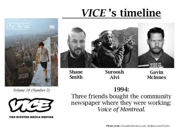 VICE 's timeline                       Shane       Suroosh                            Gavin                       Smith ...