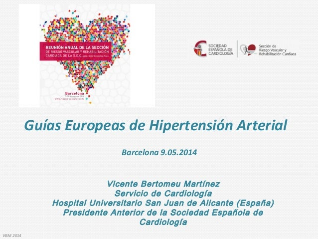 Guías europeas de hipertensión.