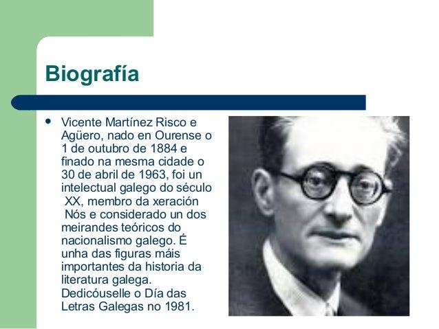 Vicente Risco, traballo de Cristina e Álvaro Slide 2
