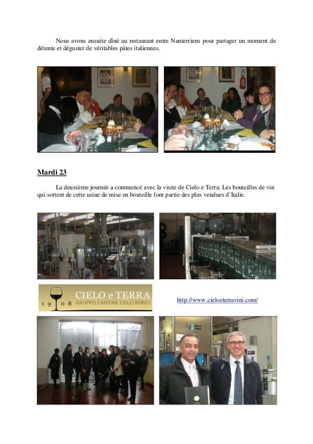 Nous avons ensuite dîné au restaurant entre Nanterriens pour partager un moment de détente et déguster de véritables pâtes...