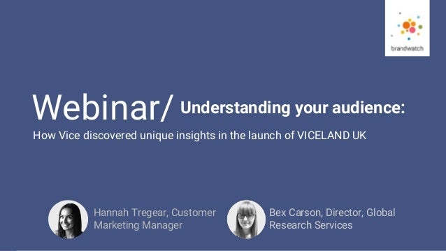 1 #brandwatchtips © 2016 Brandwatch.com Webinar/ Understanding your audience: Bex Carson, Director, Global Research Servic...