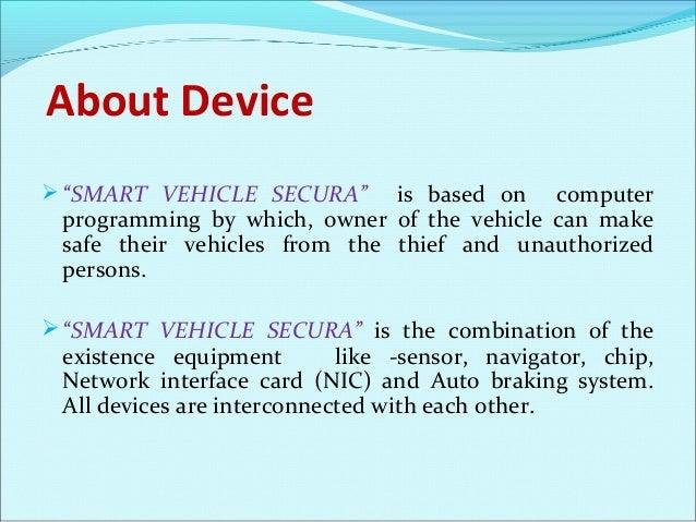 SMART Vehicle Secure PPT Slide 2