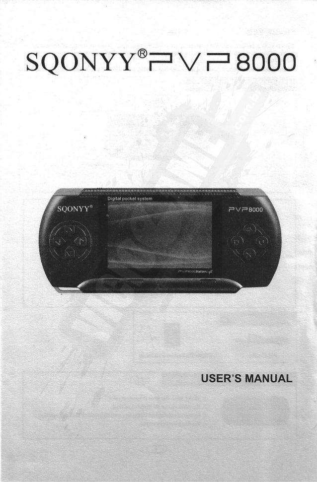 SQONYY PVP 8000 Station Light - Digital Pocket System - Manual