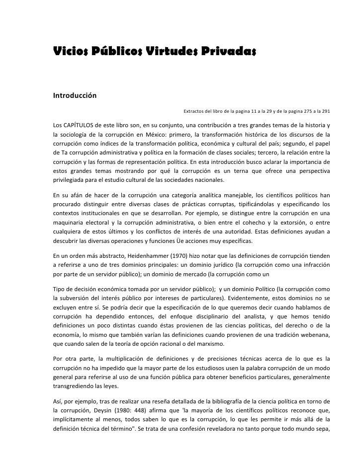 Vicios Públicos Virtudes Privadas  Introducción                                                       Extractosdellibr...